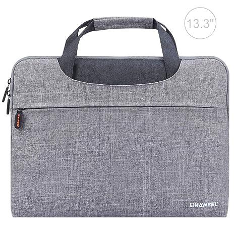 Bolsas y estuches para notebook HAWEEL Bolsa de ordenador portátil de hombro con cremallera de 13