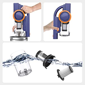 ORFELD Cordless Vacuum Hepa Filter