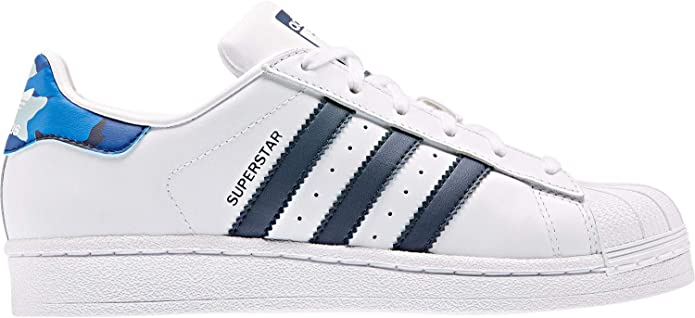 Hostil Incorrecto Transistor  adidas Superstar J W Shoes FTWR White/Navy: Amazon.co.uk: Shoes & Bags