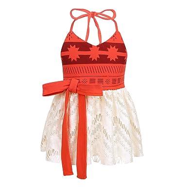 Alvivi Vestido Bebe Niña Verano Vestido Floral Halter Cuello con Estampado Cosplay Trajes Ropa Princesa de Niñas Navidad: Amazon.es: Ropa y accesorios