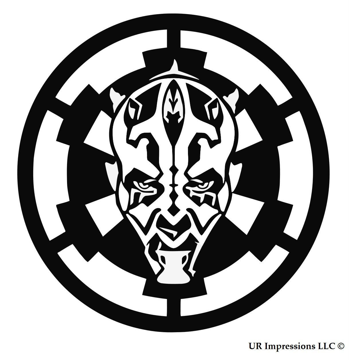 BLK Darth Maul over Galactic Empire Insignia Star Wars Inspiredデカールビニールsticker|cars Trucks壁laptop|black|5.5 in|uri463   B076HVKHZD