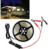 Autai RV LED Rope Light Awning Rope Lights Recreational Vehicle Light Strip Touring Car Camping Light 12V Waterproof with Cigarette Lighter Clip