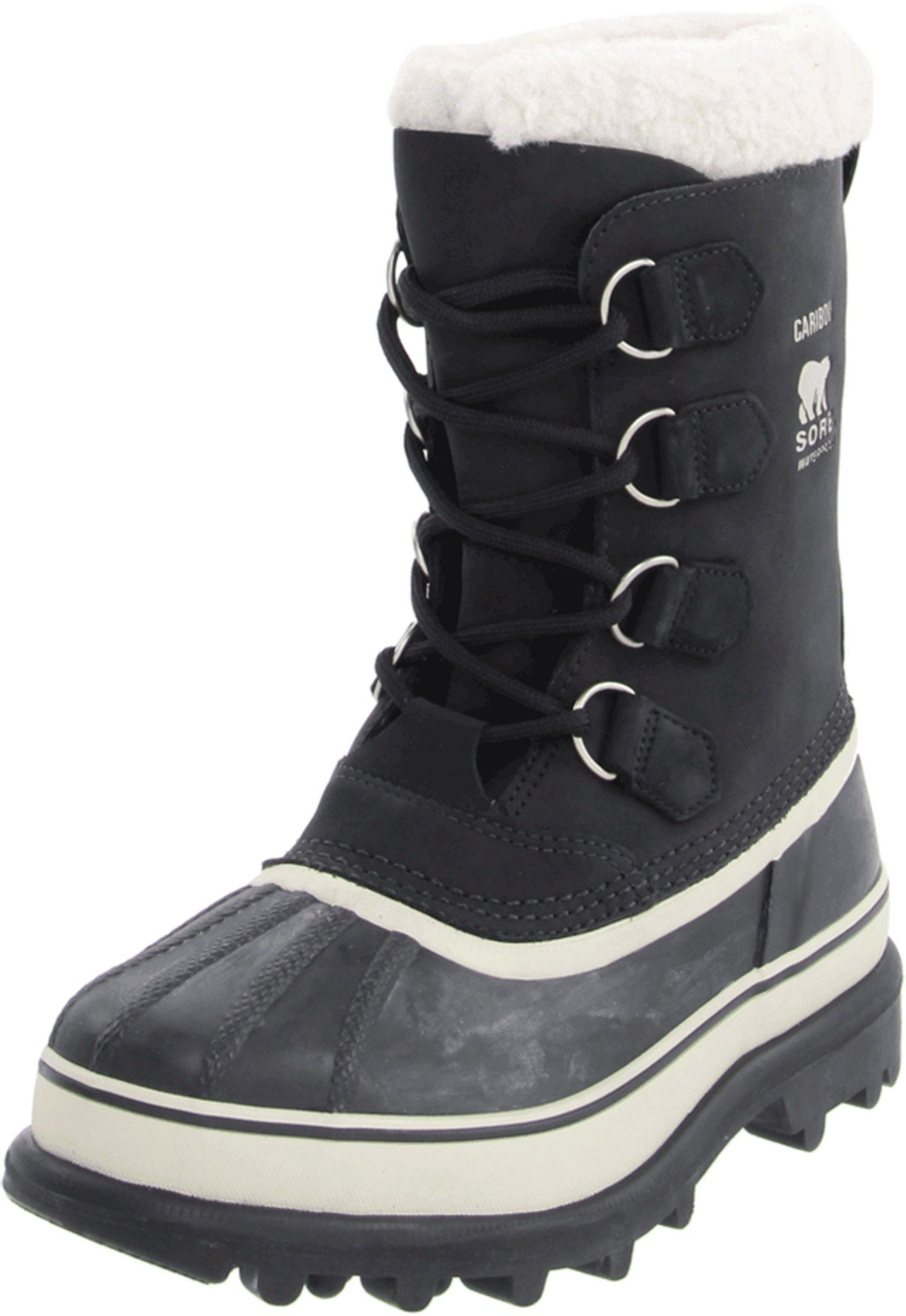 Sorel Women's Caribou NL1005 Boot,Black/Stone,8 M