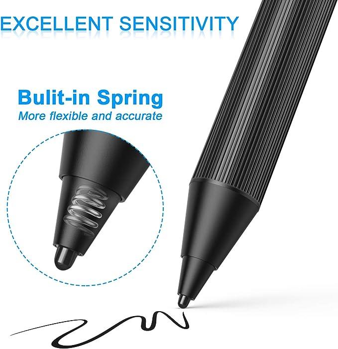 MEKO 1.6mm Fine Tip Active Digital Stylus Pen with Universal Fiber Tip 2-in-1