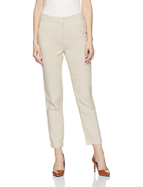info for fashionablestyle great discount Marks & Spencer Women's Relaxed Fit Linen Pants  (0000021234552_T594152KSTONE_6REG_21234552)