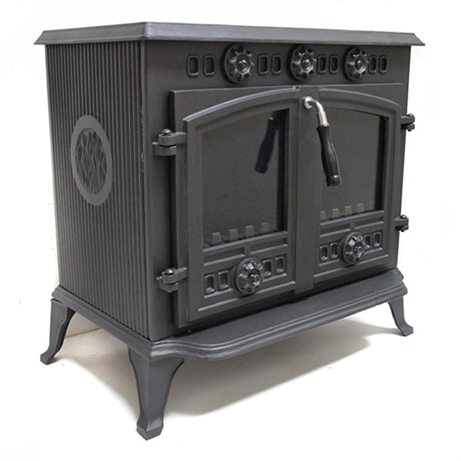 vortigern 12kw cast iron woodburning multifuel stove v006 genuine