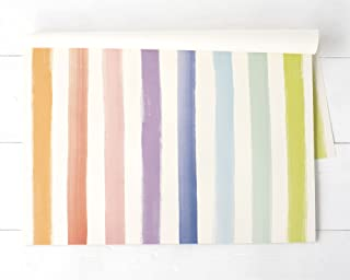 product image for Hester & Cook Paper Placemat, Pad of 24 - Sorbet Painted Stripe