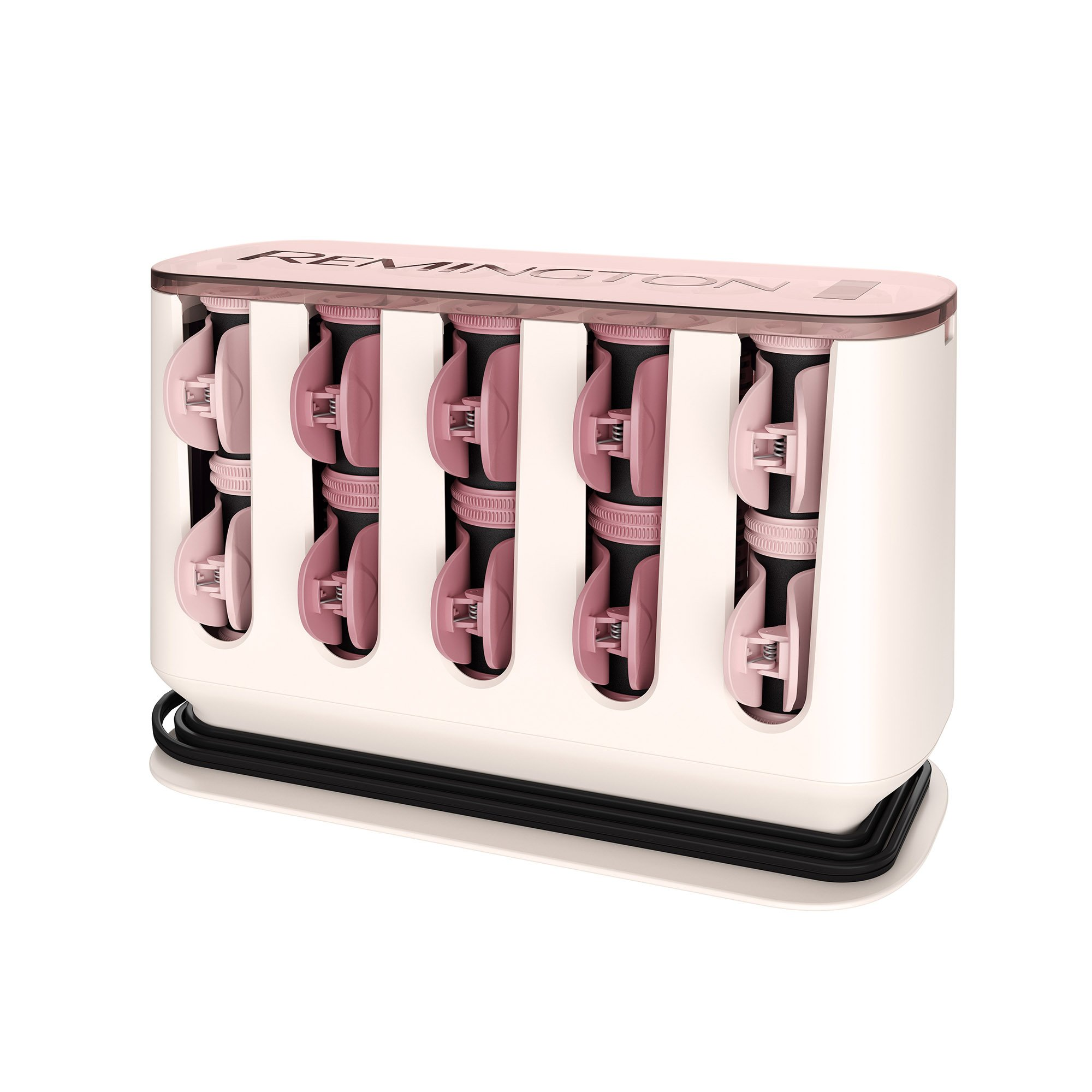 Remington Pro Series H9100P T|Studio Thermaluxe Ceramic Hair Setter, with 2x Ceramic & Bonus Sectioning Clips, Hair Rollers, 1-1 ¼ Inch, Blush Pink