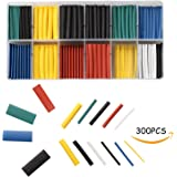 Heat Shrink Tubing by Chekue, 2:1 Ratio Heat Shrink Tube and Sleeves, Assorted, 300 Qty/Pk, Use for Auto, Marine, Plane, Home, Computer and Much More!