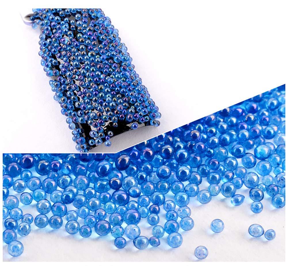 Minejin Nail Art 3D Micro Rhinestone Crystal Glass Mini Beads Manicures DIY Glitter Caviar Decoration Tips 6 Colors by Minejin