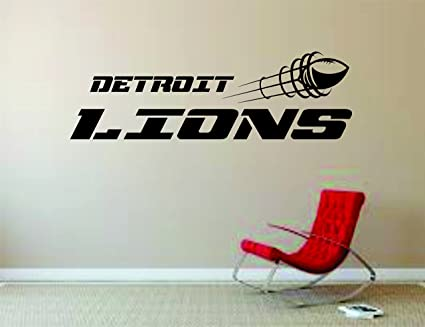 c85d71d9 Amazon.com: Detroit Lions Wall Mural Vinyl Decal Sticker Decor NFL ...