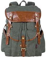 Baumwolle Männer Und Frauen Schultern Leinwand Rucksäcke Outdoor Reisen Handtasche,Brown-OneSize BFMEI