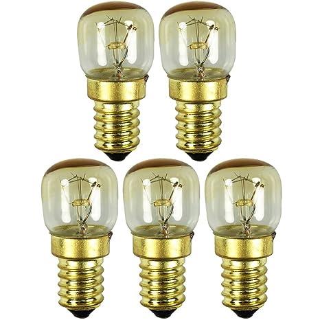 com-four® 5x horno de luz hasta 300 grados, transparente, bombilla ...