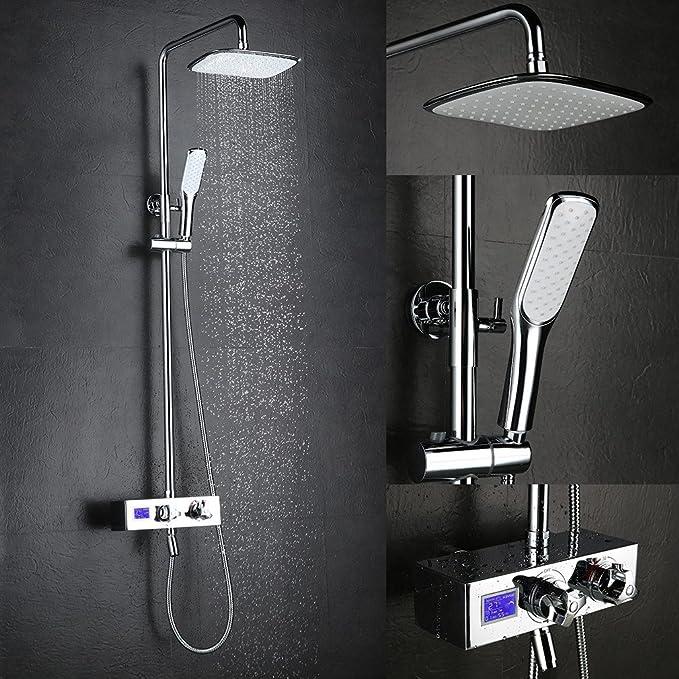 Columna de ducha termostática de pared kinse®-Juego de ducha ...