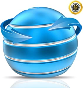 nircsom Kinetic Desk Toy, Fidget Spinner Toy, New Generation Spinning Last Longer, for Stress Relief Best Gift Ideas by(Blue)