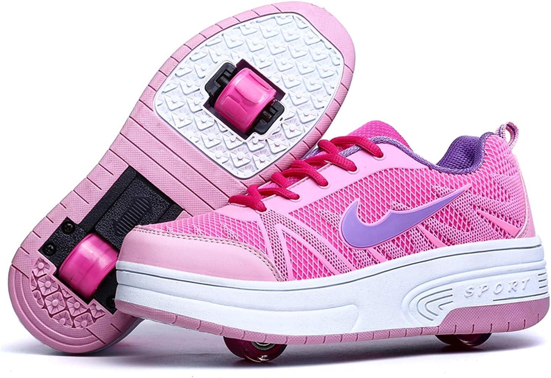 Wasnton/Jungen M/ädchen Skateboard Schuhe mit 1Rollen//2 Rollen Kinderschuhe mit Rollen Skate Shoes Rollen Schuhe Sportschuhe Laufschuhe Sneakers mit Rollen Unisex Kinder