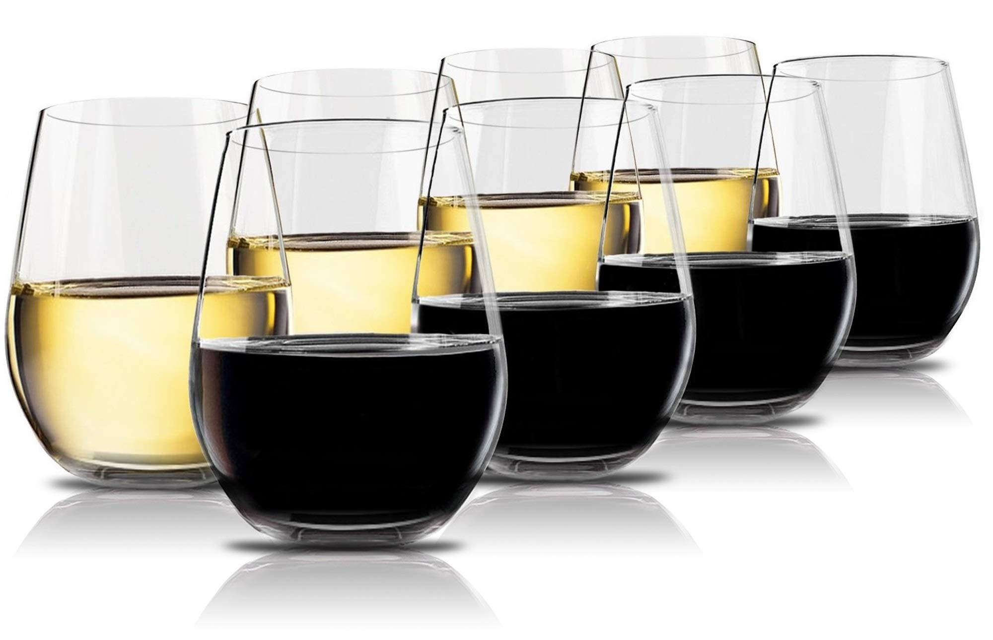 Vivocci Unbreakable Plastic Stemless Wine Glasses 20 oz | 100% Tritan Heavy Base | Shatterproof Glassware | Ideal For Cocktails & Scotch | Perfect For Homes & Bars | Dishwasher Safe | Buy 8 Pay 6 by Vivocci