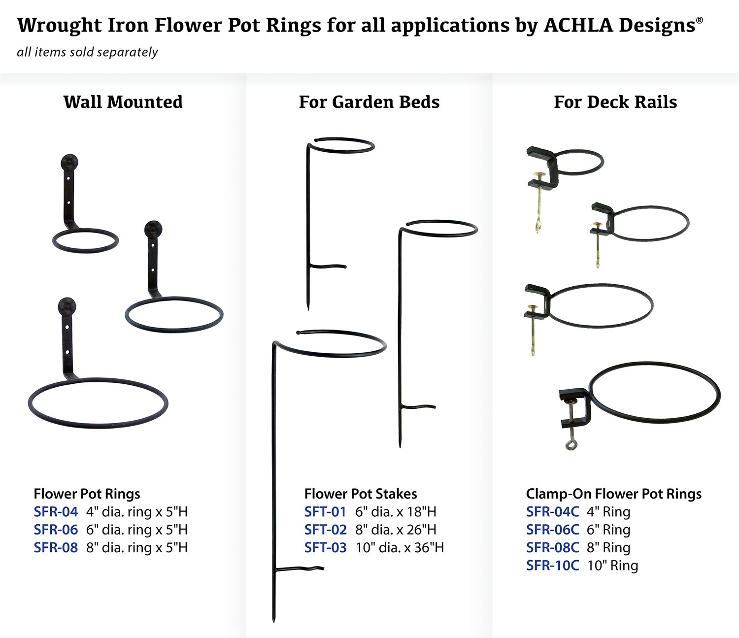 Amazon Achla Designs Flower Pot Ring Wall Bracket 8 Inch