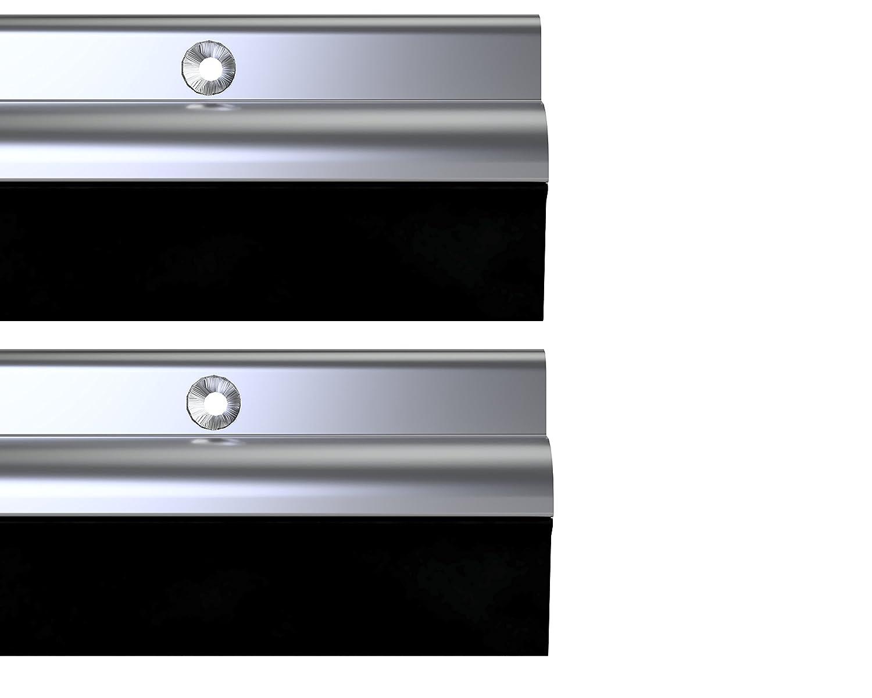 STORMGUARD 03AM0050838A Bds Bottom of The Door Rubber Draught Seal, Aluminium, 838 mm, Set of 2 Pieces Srormguard