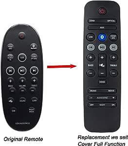 Mando a distancia para Philips HTL4110B HTL2160/12 HTL2160C/S/W/T/G/12 HTL2100 HTL21: Amazon.es: Electrónica