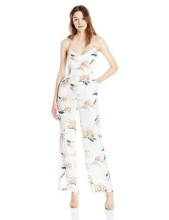 8395f77c90 Amazon.com  BB Dakota Women s Tara Floral Print Crepe Jumpsuit  Clothing