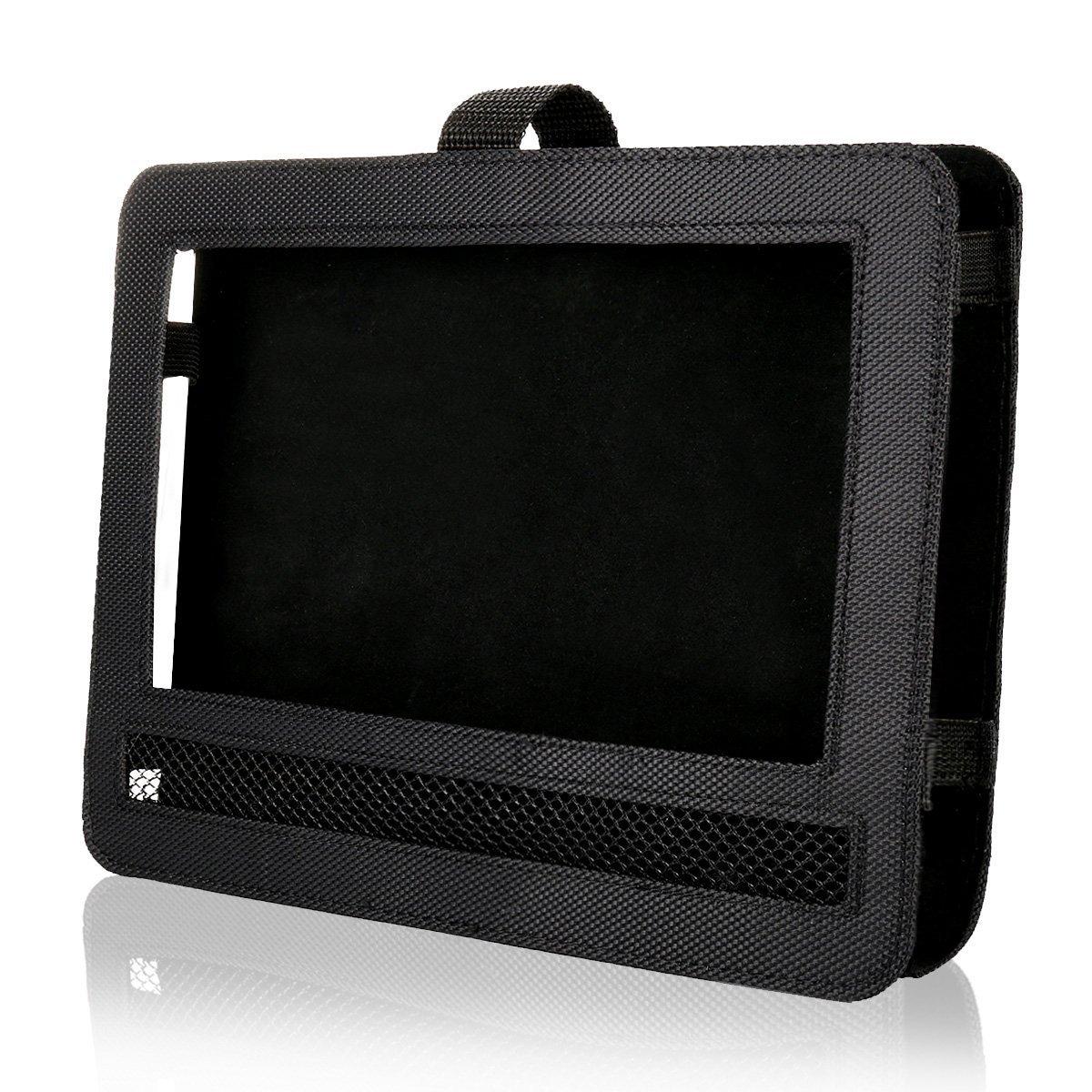 RUISIKIOU Universal Car DVD Player Holder, Portable Car DVD Headrest Mount Holder Strap Case for Swivel & Flip Style Portable DVD Player Color Black (10-10.5 Inch)