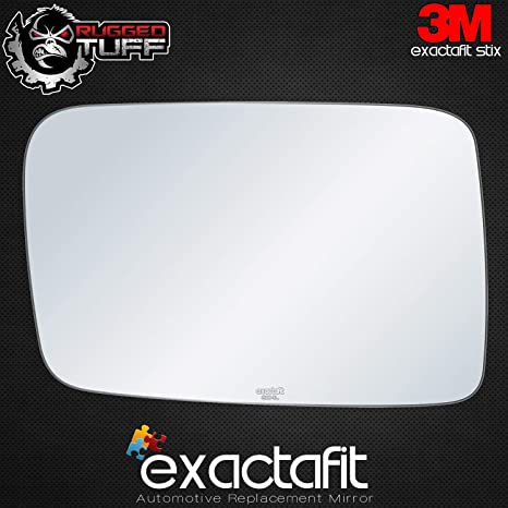 exactafit Driver Side Rear View Mirror Glass Compatible with 2006-2010 Jeep Commander Left Hand Side Flat Fits 8104L Adhesive Install LH