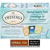 Twinings of London Herbal Variety Pack Tea Bags, 20 Count (Pack of 6)