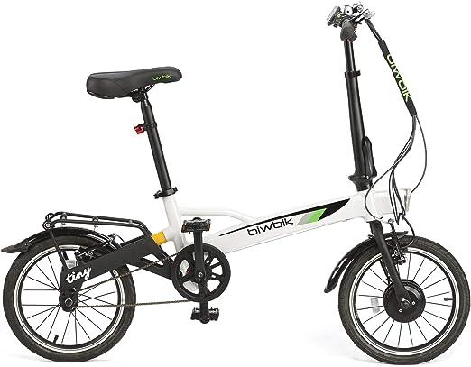 BIWBIK Bicicleta ELECTRICA Plegable Tiny DE SÓLO 12KG DE Peso (Blanco): Amazon.es: Deportes y aire libre