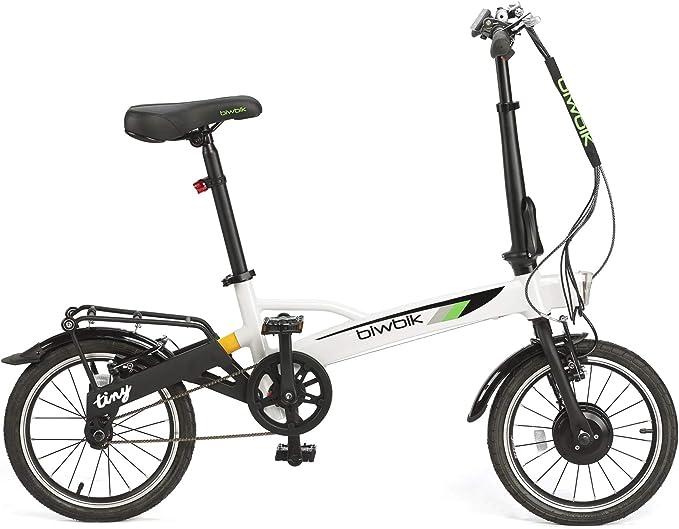 BIWBIK Bicicleta ELECTRICA Plegable Tiny DE SÓLO 12KG DE Peso ...