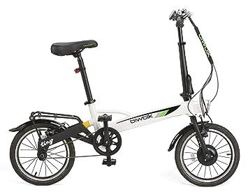 BIWBIK Bicicleta ELECTRICA Plegable Tiny DE SÓLO 12KG DE Peso (Blanco)