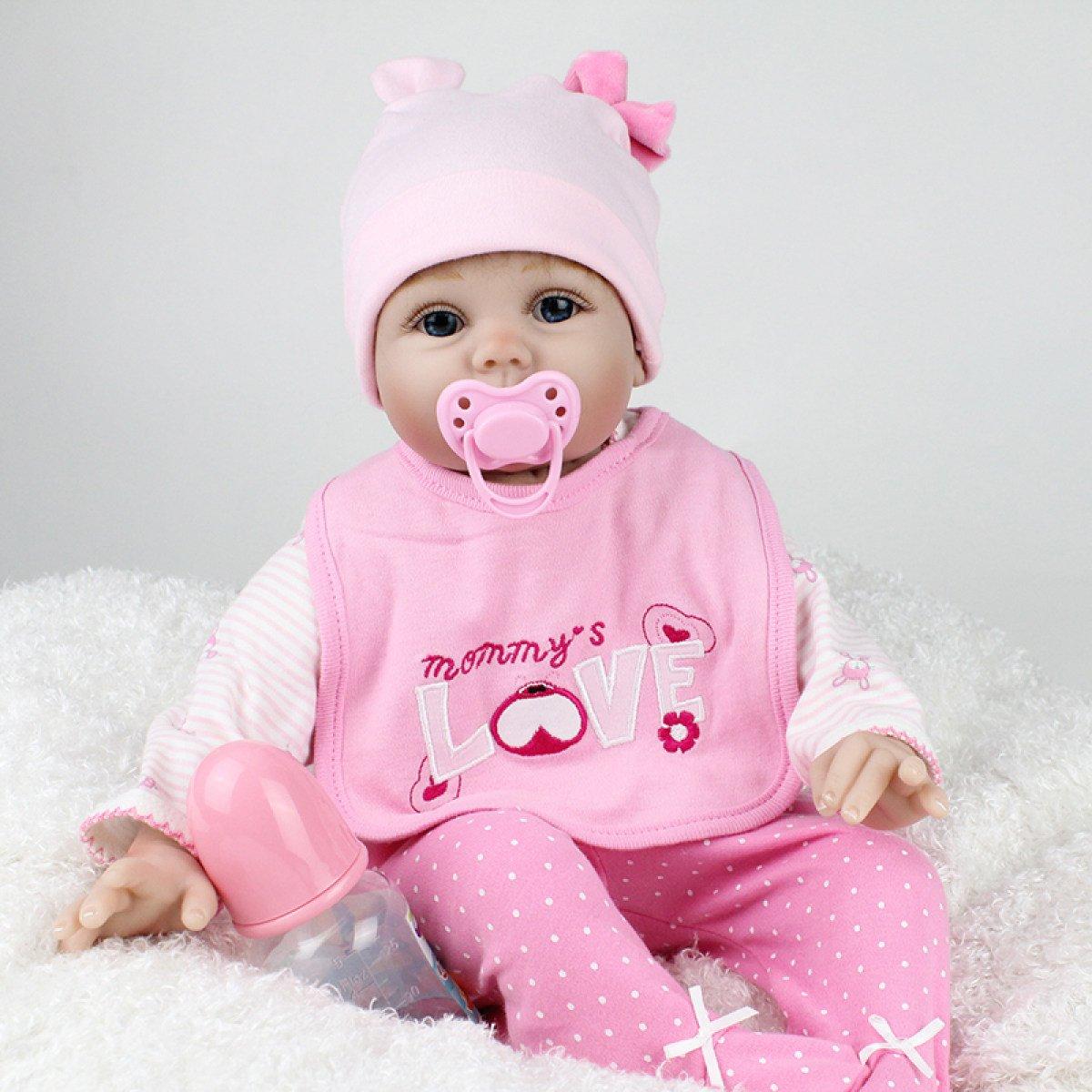 Yihang Rebornベビー人形Realisticハンドメイド新生児シリコンベビー人形LifelikeソフトシミュレーションEyes Open Girlお気に入りプレゼント   B07BP4139N
