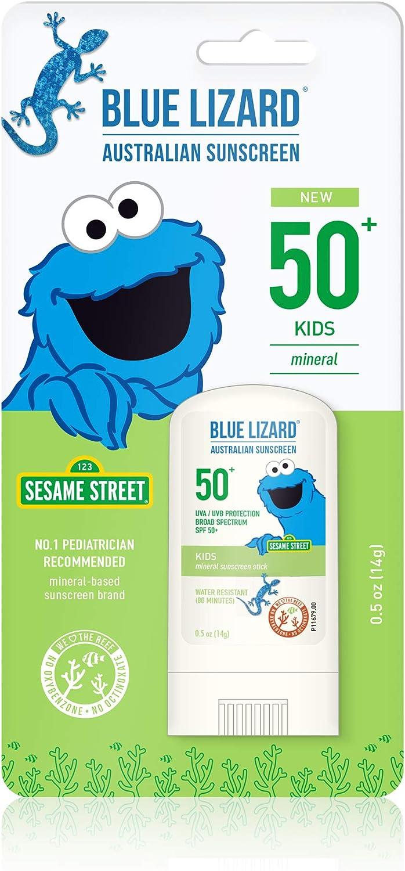 Blue Lizard Kids Mineral Sunscreen Stick - No Chemical Actives - SPF 50+, 0.5 Ounce