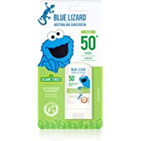 Blue Lizard Kids Mineral Sunscreen Stick with Zinc Oxide, SPF 50+, Water Resistant, UVA/UVB Protection - Easy to Apply…