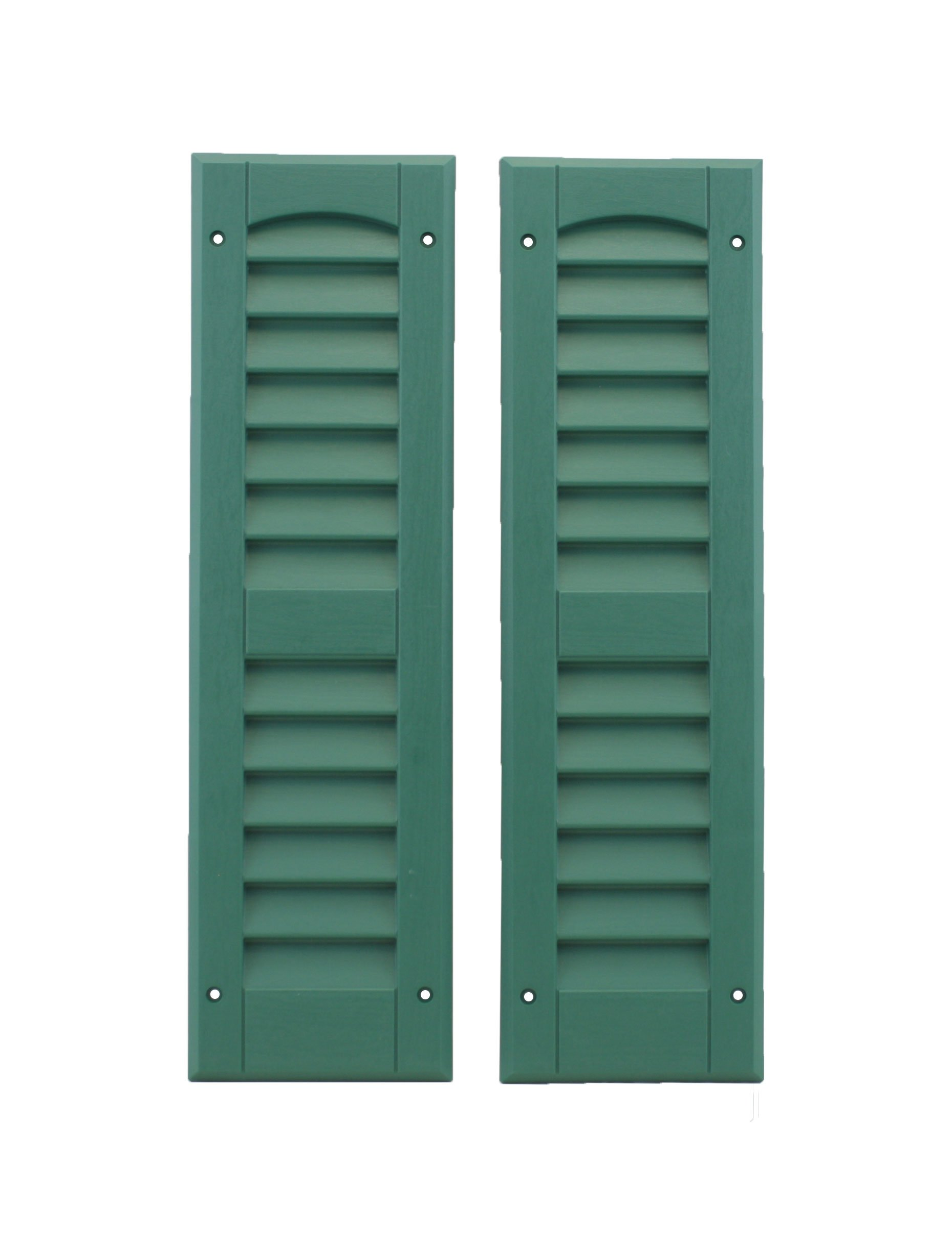 Louvered Shed or Playhouse Shutters Green 6'' X 21'' 1 Pair
