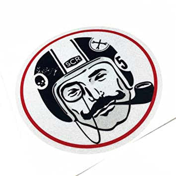 Car sticker decals vinyl tape reflective for cafe racer london gentleman 12cm