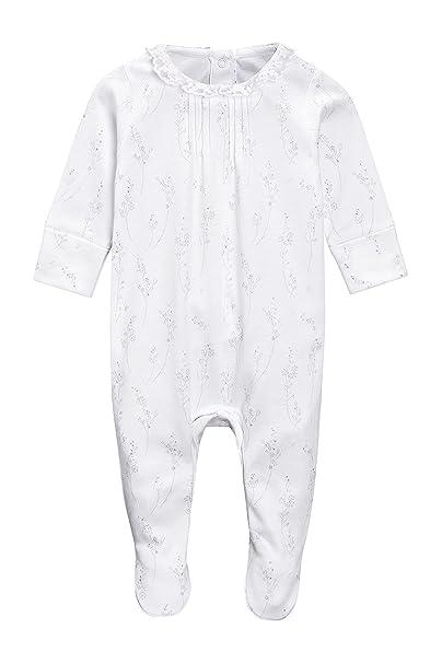 next Bebé-Niñas Pijamas Tipo Pelele con Cuello De Encaje (0 Meses - 2 Años) Blanco 1.5-2 años: Amazon.es: Ropa y accesorios
