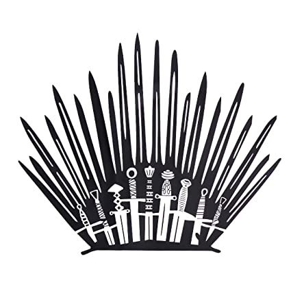 Game of thrones chair. Decor bathroom wall stickers