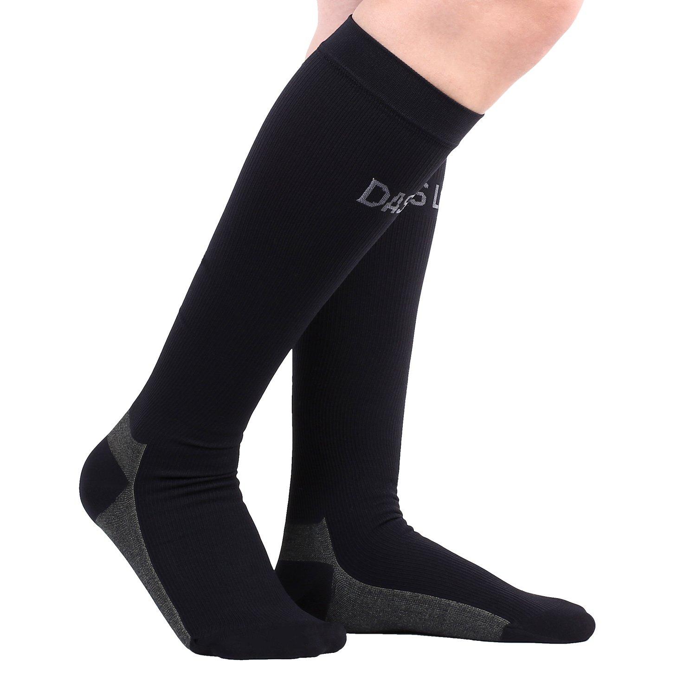 DAS Leben Compression Socks Copper Wear Knee High Socks (S/M)