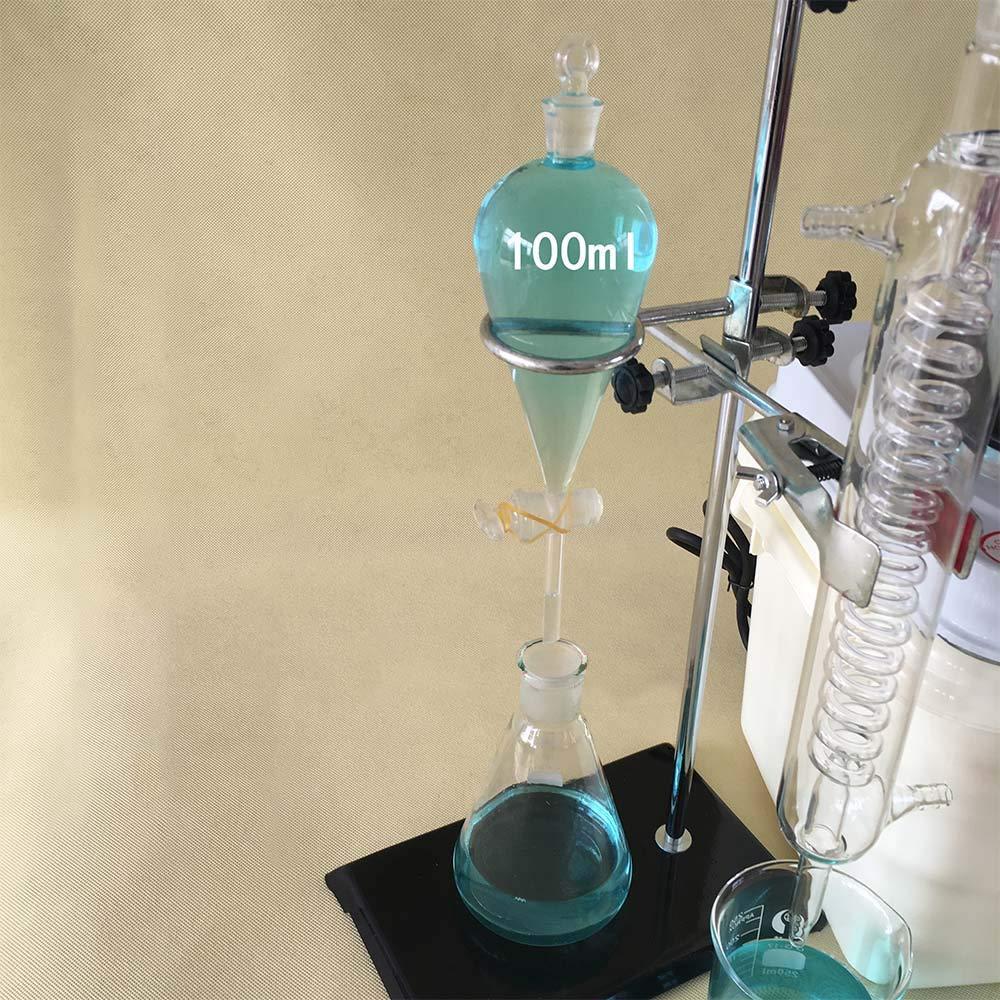 ZJHM/áquina de agua destilada de 1000 ml kit de destilaci/ón qu/ímica de engrasador de destilaci/ón con matraz de condensador y calentador