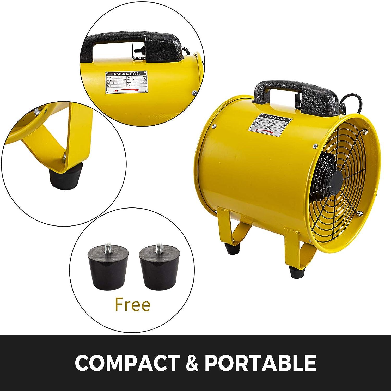 Mophorn Professionale Ventilatore Di Costruzione 12 Inch Ventilatore Da Pavimento Ventilatore Industriale A Tamburo 2500-3900m/³//h
