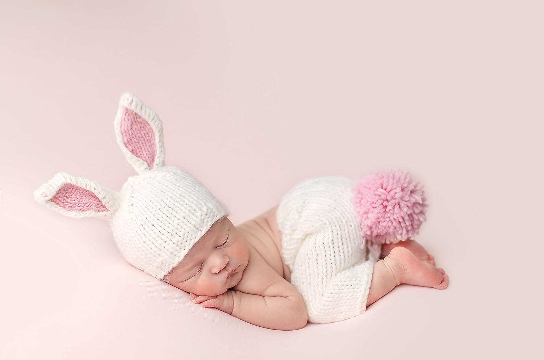 THE BLUEBERRY HILL(ブルーベリーヒル) ベビー ニット帽 赤ちゃん ニット 帽子 うさぎ ベイリーバニー ホワイト