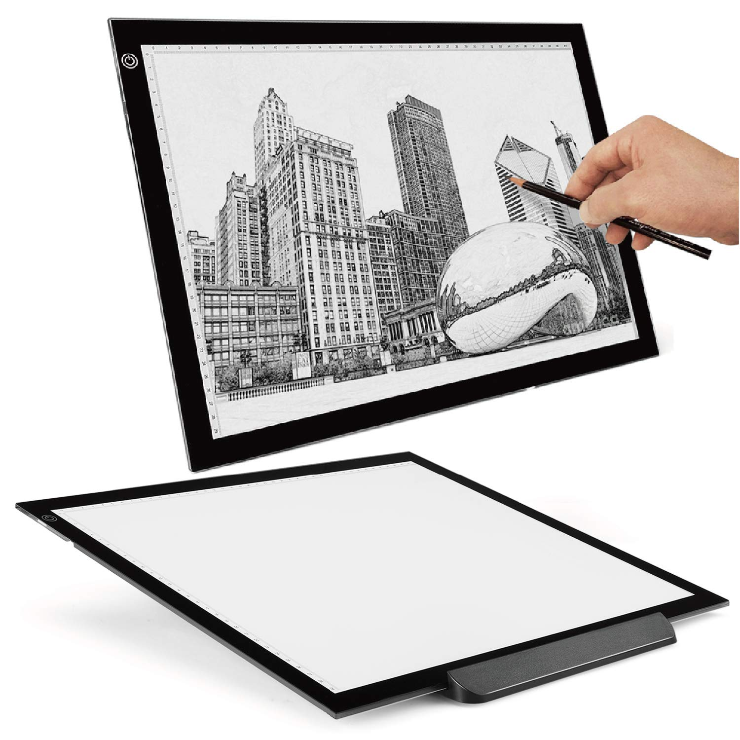 Flexzion A3 Artist Light Box Tracing Table Pad Drawing Board Tablet - Portable Ultra-Thin LED Illumination w/ Multi-Level Dimmable Brightness for Stencil Tattoo Drawing Design Sketching Animation by Flexzion
