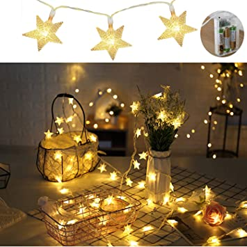 Twinkle Star Lights,Battery Operated String Outdoor Christmas  Decorations,33Ft 80LED Christmas Decor Waterproof - Amazon.com : Twinkle Star Lights, Battery Operated String Outdoor
