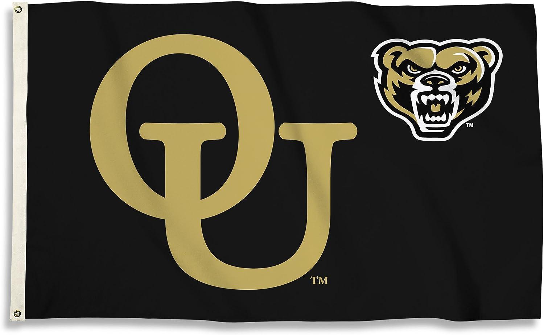 BSI NCAA College Oakland Golden Grizzlies 3 X 5 Foot Flag with Grommets