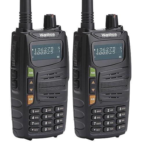 Wanhua Gts710Two Way radio batterie 5W Long rang ((16,1km/16km) Dual band (UHF/VHF 136–174/406–470MHz) Talkie Walkie avec rétroéclairage et bonne qualité sonore p