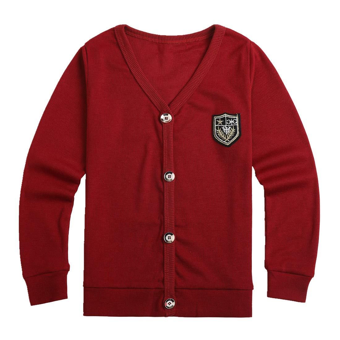Sooxiwood Little Boys Cardigan Coat V-Neck Buttons Down