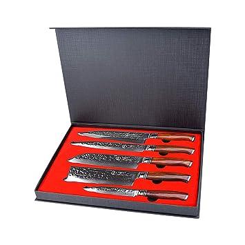Yarenh 5 Pièces Set Couteaux Cuisine Professionnelcouteaux En Acier
