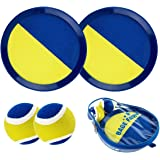 Babe Fairy Paddle Toss and Catch Ball Set-8 Inch Disc Paddle Catch Games Toy for Kids/Adult(2 Paddles,2Balls and 1 Storage Bag)(Blue)