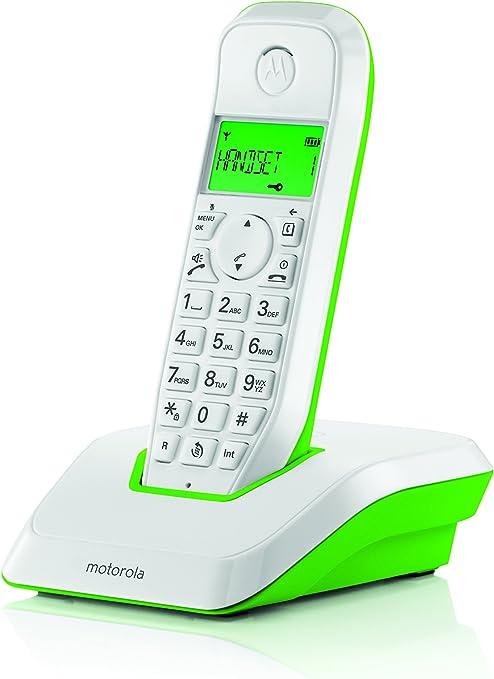 Motorola S1201 - Teléfono inalámbrico, Color Verde: Amazon.es: Electrónica